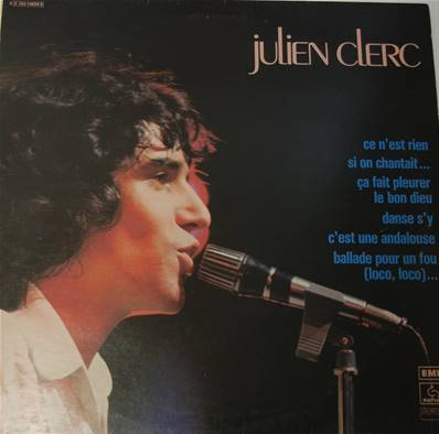 *VINYLE-33T* JULIEN CLERC - JULIEN CLERC (COMPILATION 2 DISQUES) (REEDITION DE 1978)