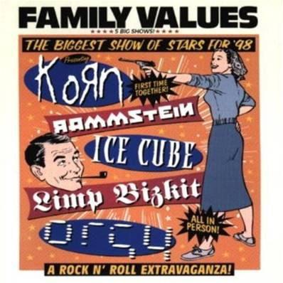*CD* FAMILY VALUES THE BIGGEST SHOW OF STAR (ALBUM 1998) (LIVE) (METAL)