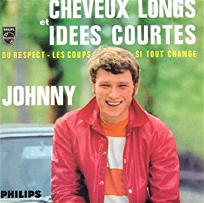 JOHNNY HALLYDAY - CHEVEUX LONGS ET IDEES COURTES (CD 4 TITRES)